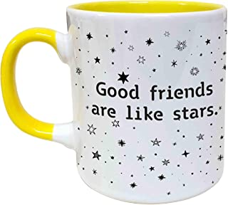 Good Friends Are Like Stars They Are Always There Coffee Mug ,11 Ounces, Novelty Cup For Women, Girlfriend, Long Distance ...