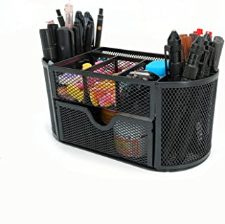 MDHAND Desk Organizer with Drawer, Desktop Organizer and Accessories with 9 Compartments for Pen Pencil Organizer Holder, ...