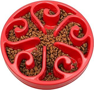 wangstar Pet Slow Feeder Bowl, Bloat Stop Dog Puzzle Bowl Maze, Interactive Fun Feeder Slow Bowl with Anti-Skid Design