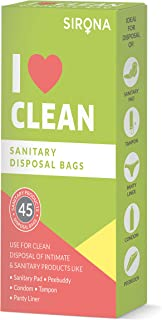 Sirona Sanitary Disposal Bags, 45 Pcs (Pack of 1)