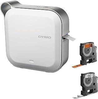 DYMO MobileLabeler 标签机 带蓝牙智能手机连接 (1982171) Machine + 2 Bonus Rolls of Orange & White Tape