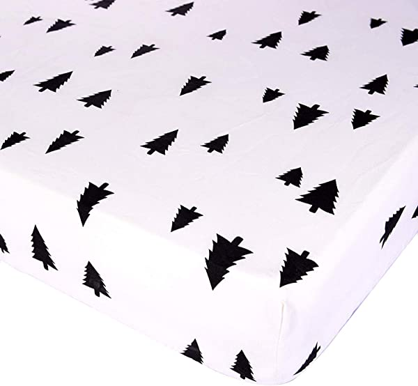 Kyapoo Fitted Crib Sheets 100 Cotton Christmas Tree Unisex Bedding Style For Standard Crib And Toddler Mattress Protector Crib Mattress Covers 52 X28