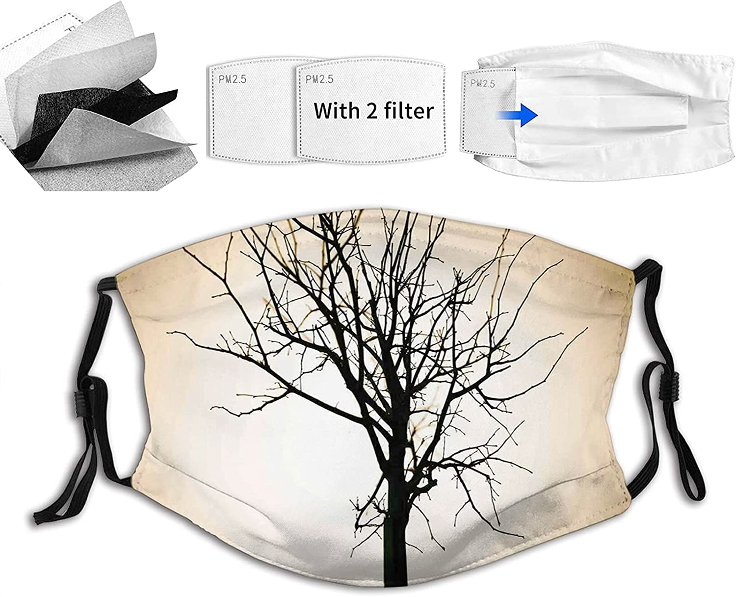 Comfortable Printed mask Woodland Element Max 72% 100% quality warranty! OFF on Tree Design Barren