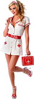 Sexy Nurse Feel Good Naughty Lingerie Costume Set in White/Red