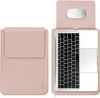TECOOL Laptop Hülle 13,3 Zoll Tasche, Wasserdicht Leder Schutzhülle Case für 2012-2021 MacBook Air/Pro 13, MacBook Air/Pro...