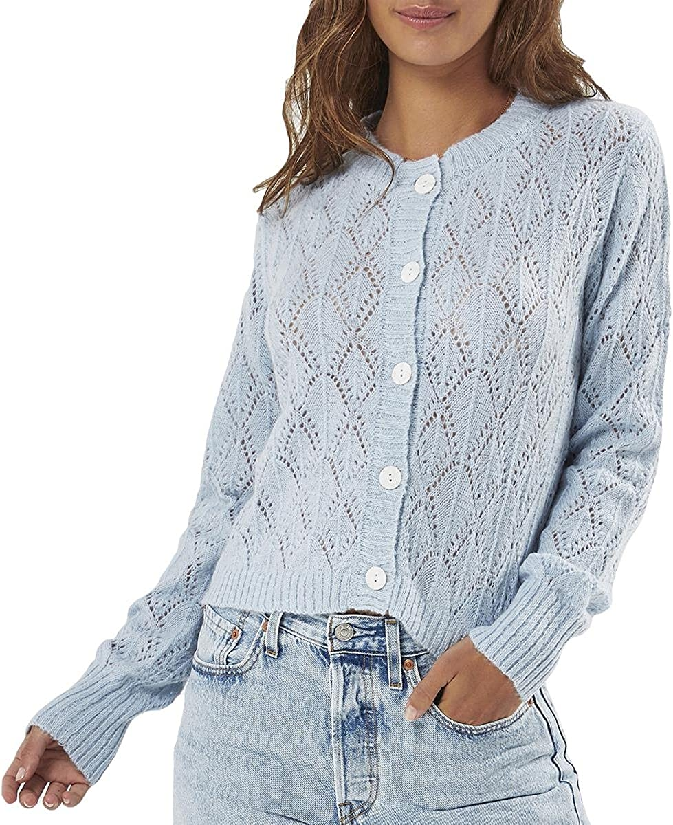 Charlie Holiday Womens Wool Blend Pearl Knit Sweater