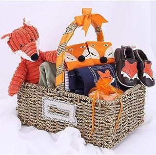 赤ちゃんのギフトボックスフォックスギフトバスケット新生児コスチューム誕生赤ちゃんフルムーンギフトセットボックス四季服スーツ