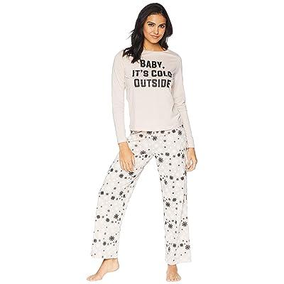 Cosabella Holiday Tees Pima Cotton PJ Set (Snowflake) Women