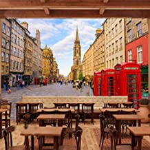 Afashiony Custom Photo Wallpaper Modern London Street Red Telephone Booth Wall Mural Cafe Living Room Sofa Tv Background Mural Wall Papers-350Cmx250Cm