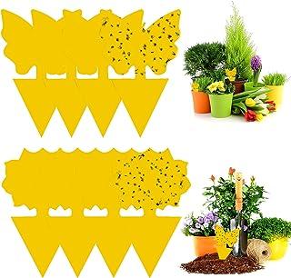 WELLXUNK® 48 Piezas Jardin Planta Trampas, Atrapamoscas para Plantas, Trampas Adhesivas Insectos, para Plantas En Macetas ...
