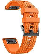 NotoCity Garmin Fenix 5 バンド 22mm ガーミン 交換用シリコン製 ベルト対応Garmin Fenix 5/Fenix 5 Plus/Forerunner 935/Approach S60/Quatix 5
