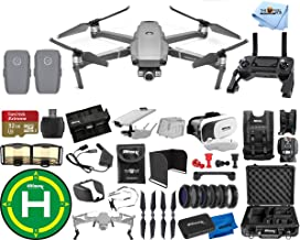 $1599 » DJI Mavic 2 Zoom 2 Battery (Total) PRO Accessory Bundle with Aluminum Case, Drone Vest, 32GB Micro SD, VR Goggles, Charging Hub, Filter Kit, Landing Pad + Much More