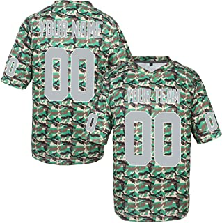 bd99cefeb Custom Football Jerseys for Men Women Youth Embroidered Name and Numbers S-8XL  Camo Salute