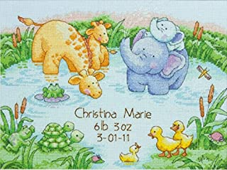 """Dimensions Little Pond Birth Record Counted Cross Stitch Kit, Baby Shower Gift, 12"""" x 9"""""""