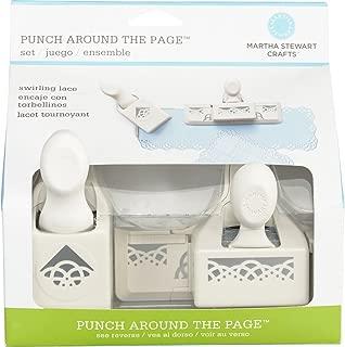 Martha Stewart Crafts Punch Around The Page, Swirling Lace Punch Set