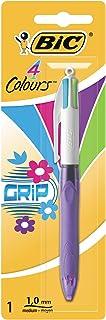 BIC 4-kleurige balpen 4 Colours Grip Fashion, 0,4 mm 1 Stuk multicolor
