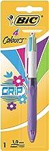 BIC 4 colores Grip bolígrafos Retráctiles punta media (1,0 mm) – colores Modernos, Blíster de 1 Unidad