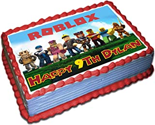 Roblox Personalized Cake Toppers Icing Sugar Paper 1/4 8.5 x 11.5 Inches Sheet Edible Frosting Photo Birthday Cake Topper Fondant Transfer (Best Quality Printing)
