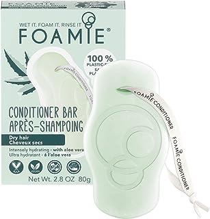 Foamie balsamo solido per capelli secchi con aloe vera e olio di mandorle che idrata intensamente i capelli secchi 100% ve...