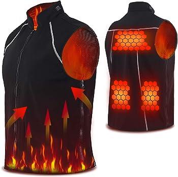 Vinmori Electric Heated Vest Washable Size Adjustable