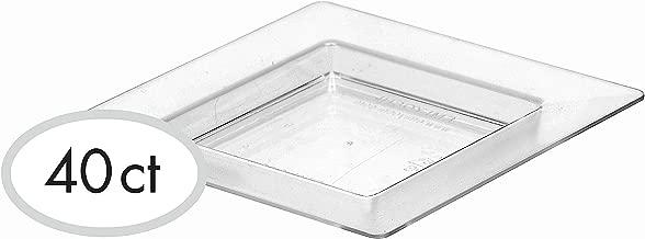 Clear Mini Plastic Square Plate