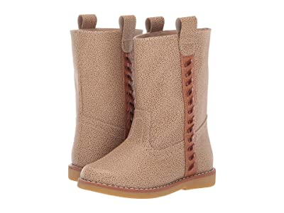 Elephantito Mid Calf Stitched Boot (Toddler/Little Kid/Big Kid) (Beige) Girl