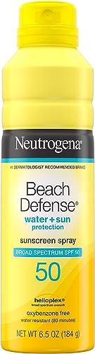 Neutrogena Beach Defense Sunscreen Spray SPF 50 Water-Resistant Sunscreen Body Spray with Broad Spectrum SPF 50, PABA...