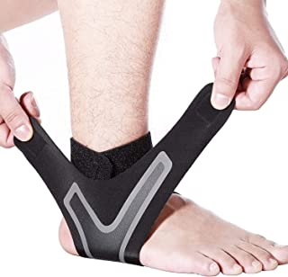 Ankle Brace-Ankle Support with Super Elastic and Comfortable Adjustable Ankle Brace for Men Ankle Wrap Prevent Sprained Ankle Perfect for Sports Compression Ankle Brace for Women (Left, M)