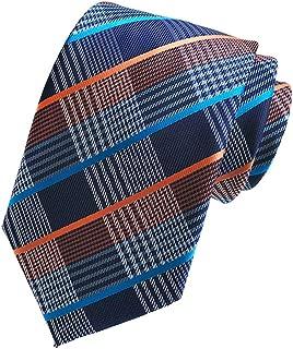 Fine Lines Gray Blue Jacquard Woven 100% Silk Men's Tie Wedding Necktie