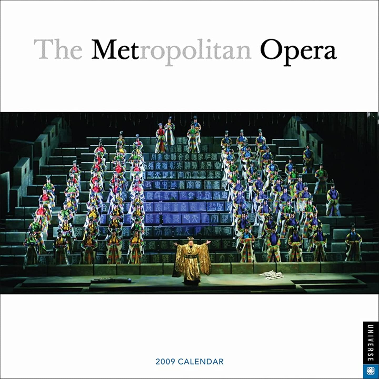 それぞれ加害者料理をするMetropolitain Opera: 2009 Wall Calendar