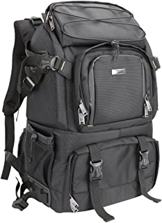 Evecase Extra Large Professional DSLR Camera/Laptop Travel Backpack Gadget Bag w Rain Cover for 15.6-inch Laptop, Tablet, Lens Kit Accessories, Full Frame Mirrorless Digital Cameras