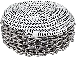 Norestar Double Braided Nylon Rope and HT G4 Stainless Steel Chain, Boat Windlass, Prespliced Rode