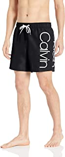 Men's Ck Solid Euro Volley with Extra Large Calvin Logo