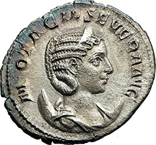 244 IT OTACILIA SEVERA Philip I Wife 244AD Ancient SILVE coin Good