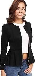 Best black peplum zip jacket Reviews