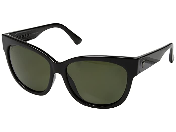 Danger Cat Polarized (Gloss Black/Ohm Polar Grey) Fashion Sunglasses