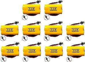 (10 Pack) Exit Sign Emergency Light NiCad Battery 3.6v 900mAh Replacement Lithonia ELB B001 ELBB001 ELB-B001 Unitech AA900MAH Lithonia EU2 LED Interstate ANIC1566 Unitech 0253799