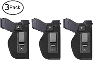 TACwolf 3pc Inside IWB Holster Waistband Fits All Firearms S&W M&P Shield 9/40 1911 Taurus PT111 G2 Sig Sauer Glock 17 19 26 27 42 43 Springfield XD XDS