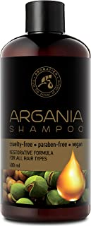 Argan Oil Shampoo 480ml - Natural Argan Oil And Herbal Extracts For All Hair Types - Restorative Formula - Hair Care