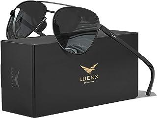Aviator Sunglasses for Men Women-Polarized Driving UV 400 Protection 60 MM