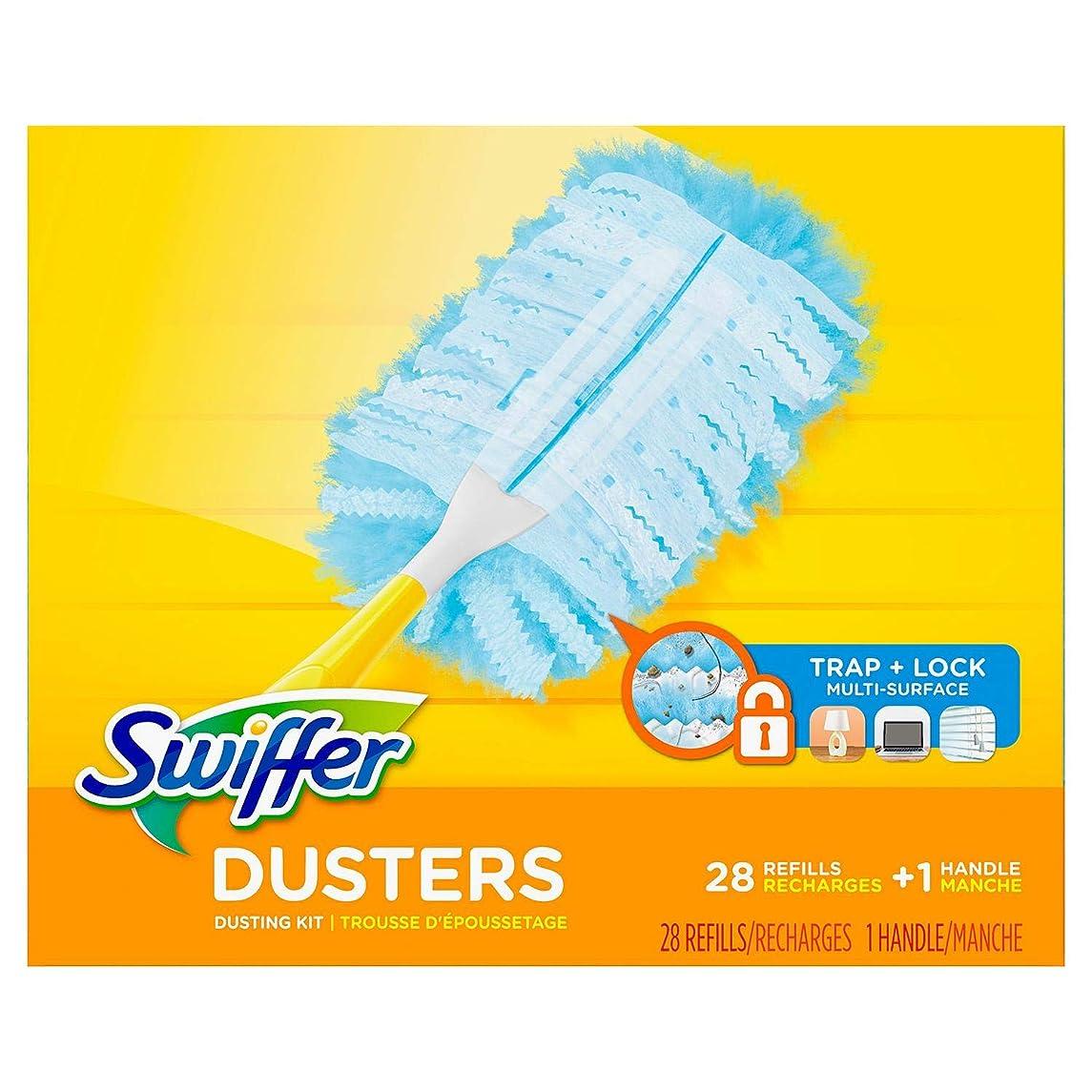 モルヒネシャワー模索Swiffer Dusters Dustingキット、1ハンドル& 24?Duster Swiffer Refills