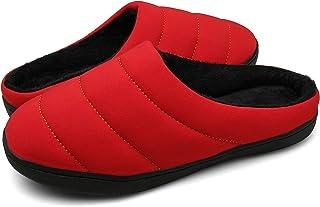 40f787c09 DAFENP Zapatillas de Casa Hombre Mujer Invierno Caliente Forro Polar  Slippers Suave Interior Al Aire Libre