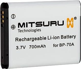 Mitsuru® batería para Samsung BP-70A BP70A recambio para Samsung Digimax 10 100 105 120 170 20 200 30 50 60 600 61 630 65 66