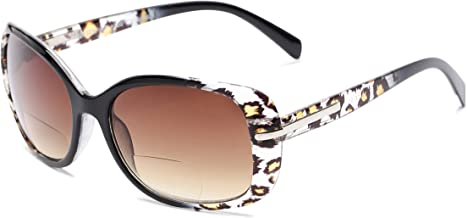 Readers.com Sun Reader: The Cassia Bifocal Reading Sunglasses Plastic Square Style for Women