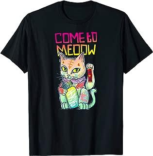 Maneki Neko Cat Japanese Anime Lover Kawaii Gift T-Shirt