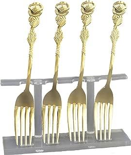 Rose Handle Demi Fork-gold plate -SET OF FOUR