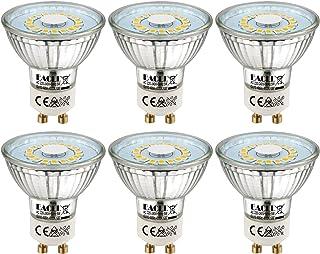 comprar comparacion EACLL Bombillas LED GU10 4000K Blanco Neutro 5W Fuente de Luz 495 Lúmenes Equivalente 50W Halógena. AC 230V Sin Parpadeo F...