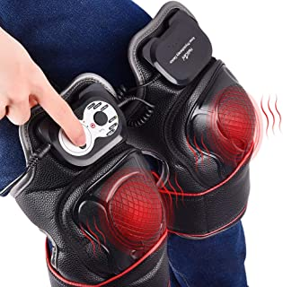 HailiCare Heated Knee Massager, Electric Knee Wrap Brace with Heat & Vibration Massage Therapy Knee Warmer for Joint Muscles Arthritis Sports Injury Pain Relief - Ideal Gift for Parents and Families