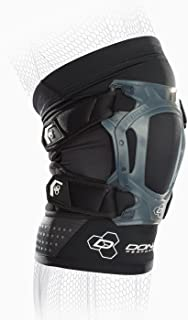 DonJoy Peformance Webtech Short Knee Brace – Lightweight, Adjustable, Dual Silicone Support to Quad and Patellar Tendon, Ideal for Tendinitis, Chondromalacia, Osgood Schlatters, Patella Tracking Support for Running, Walking, Cycling, Water Sports, Lacrosse, Soccer