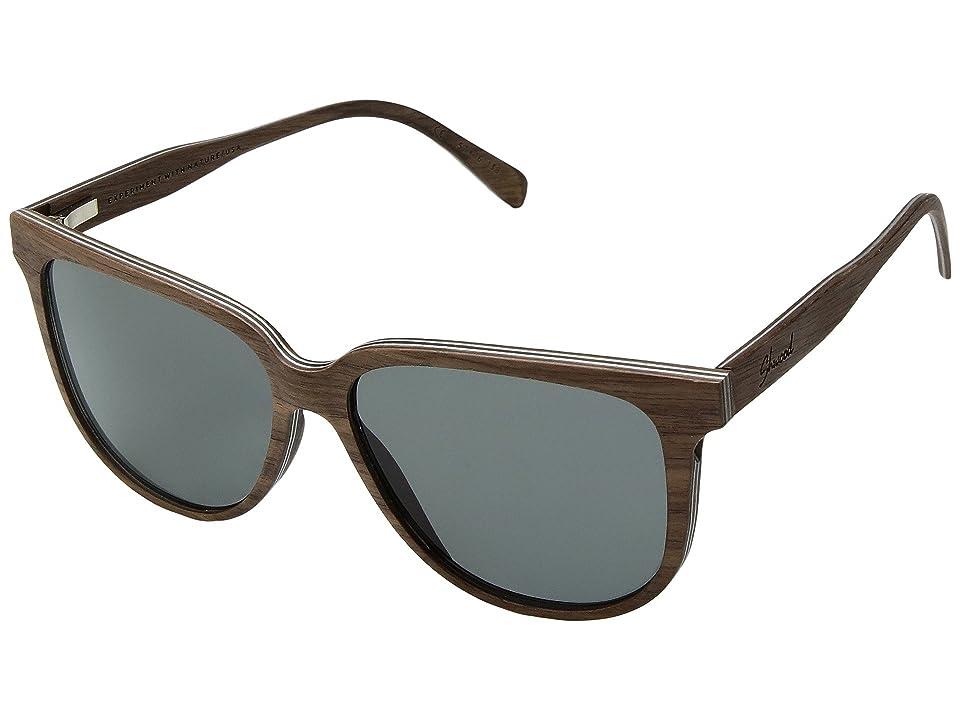 Shwood Mckenzie Wood Sunglasses Polarized (Walnut/Grey Polarized) Polarized Sport Sunglasses